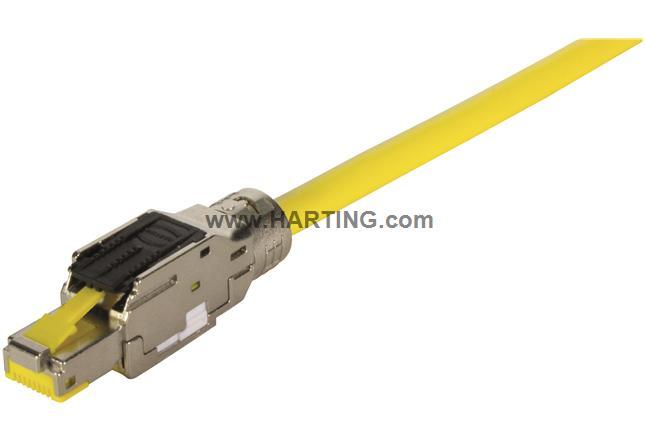 RJI MF RJ45 plug Cat6A, 8p IDC straight
