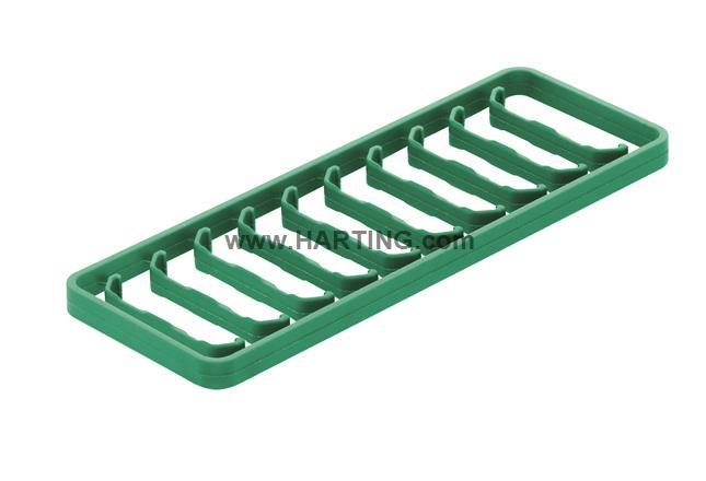 Han 1A-coding clip green / 10 per frame