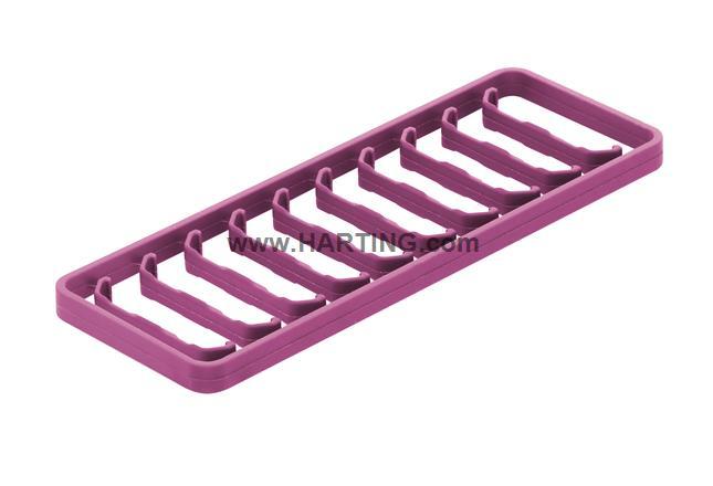 Han 1A-coding clip violet / 10 per frame