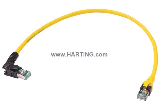 VB RJ45 LaR -DB RJ45 FRNC yellow 0.5m