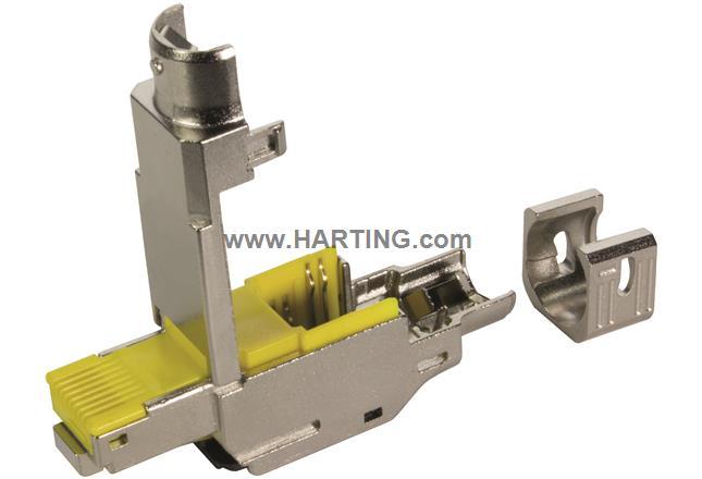 preLink RJ45 plug, IP20 Cat.6A L-0°