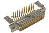 D-Sub 25-pole MinD ANG male BL nut M3 PL