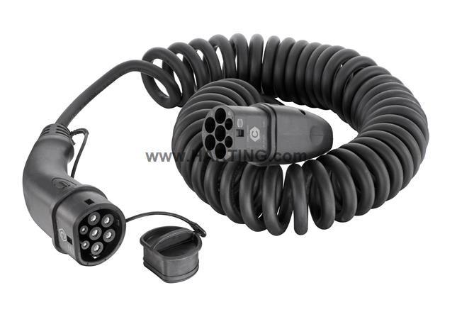 Cable Mode3 Type2 20A 3ph 5m spiral