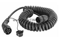 Cable Mode3 Type2 32A 3ph 5m spiral